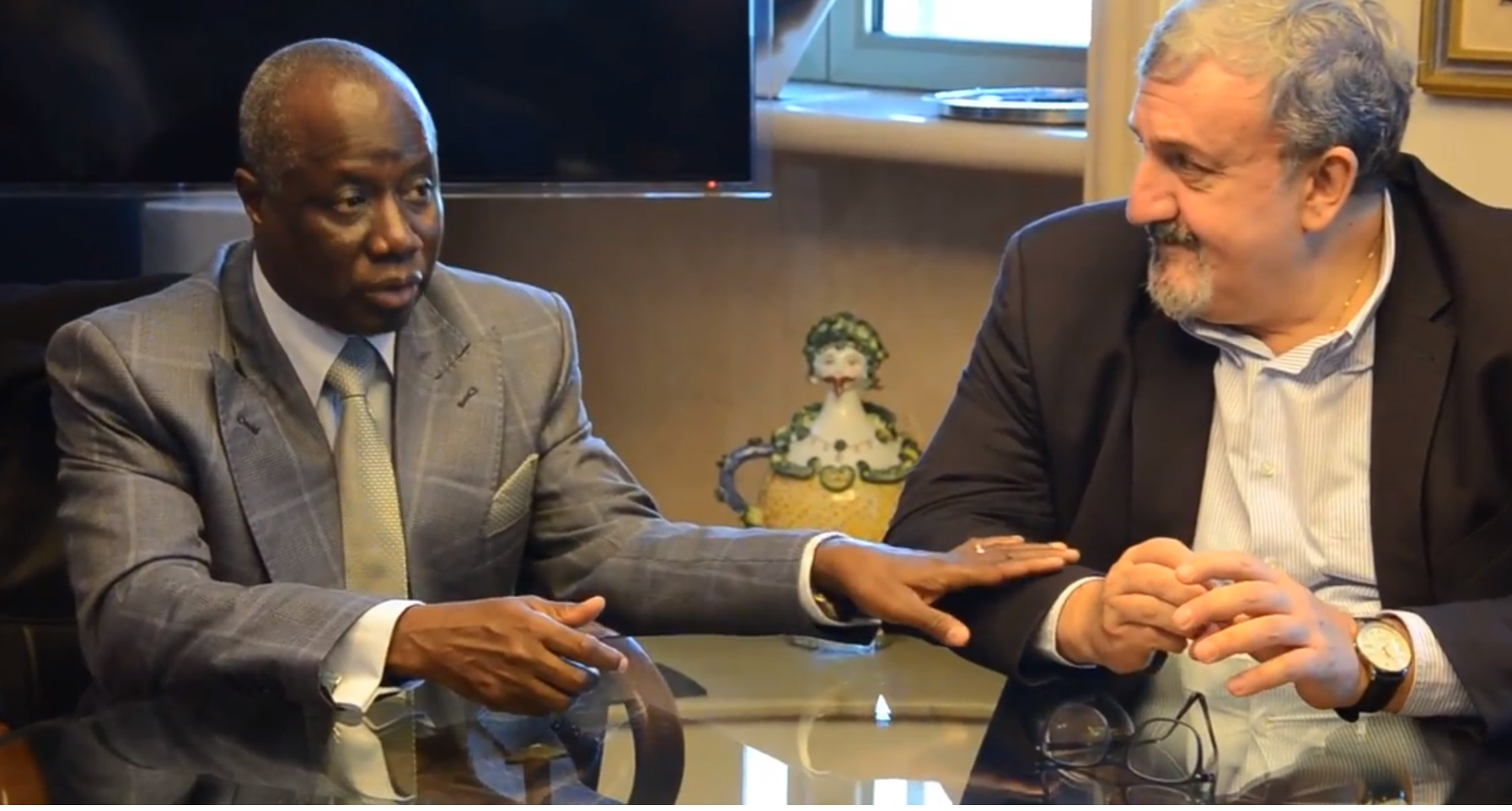 Emiliano incontra Ambasciatore Senegal e delegazione